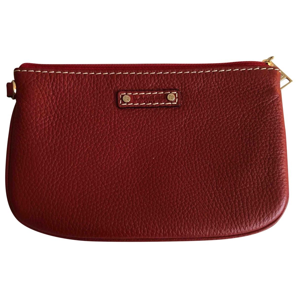 Lancel - Pochette   pour femme en cuir - rouge