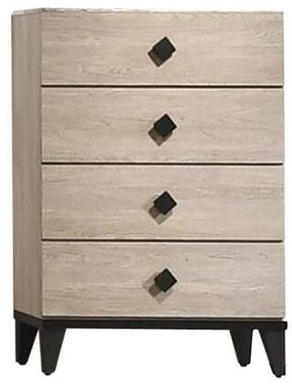 Ethan Collection ET400-CH Chest with 4 Storage Drawers and Ball Bearing Center Glide in Ash Gray