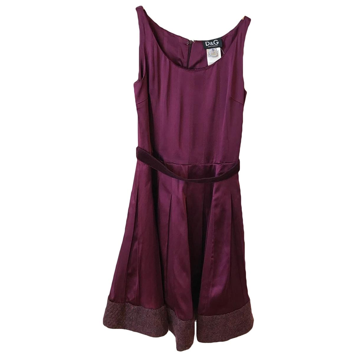 Dolce & Gabbana \N Kleid in  Bordeauxrot Wolle