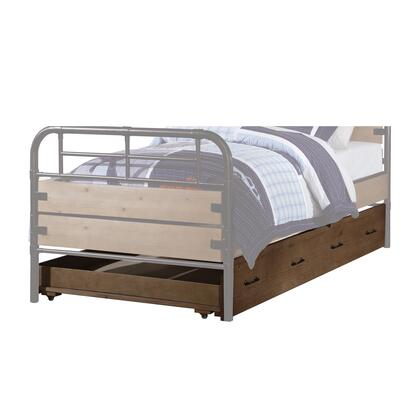 BM204311 Wooden Twin Size Trundle Bed with Caster Wheels