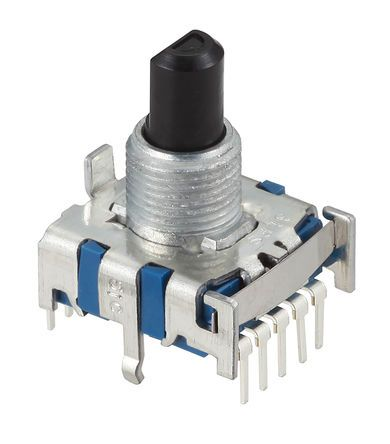 Alps Alpine , 8 Position SP8T Rotary Switch, 300 mA, PC Pin