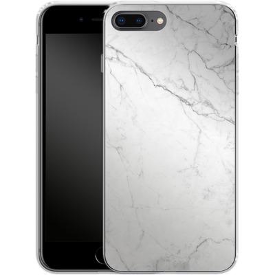 Apple iPhone 7 Plus Silikon Handyhuelle - White Marble von caseable Designs