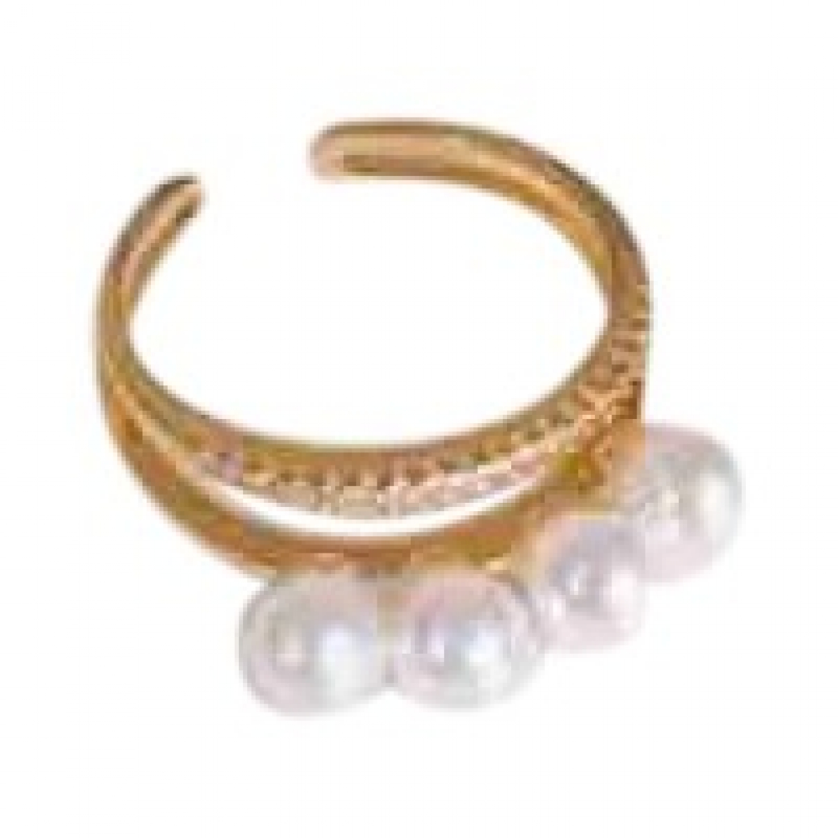 Non Signé / Unsigned \N Gold Metal ring for Women \N