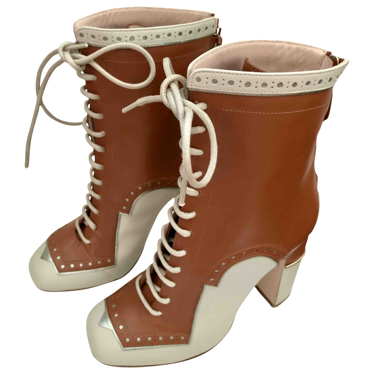 Pollini \N Brown Leather Boots for Women 35 EU