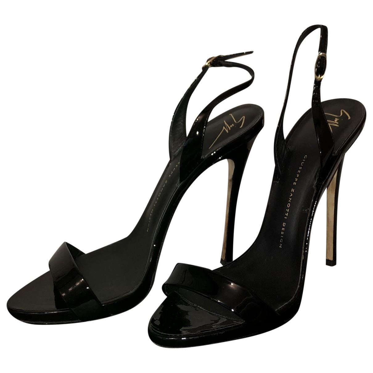 Giuseppe Zanotti \N Black Patent leather Sandals for Women 39.5 EU