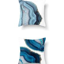 1 Stueck Marmor Muster Kissenbezug ohne Fuellstoff