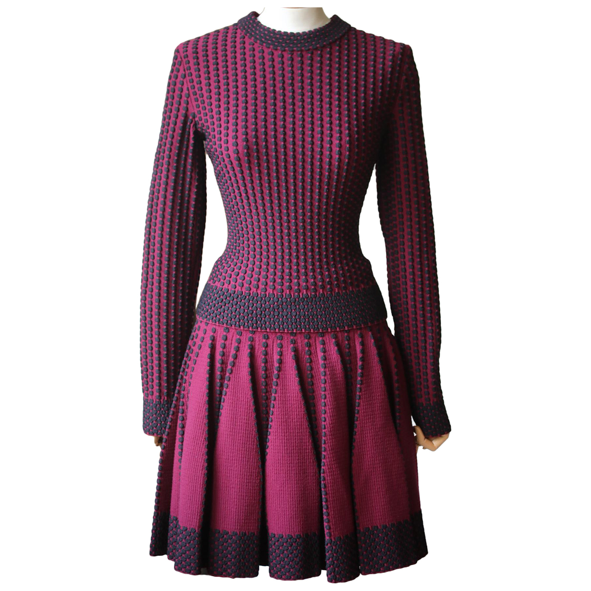 Alaia \N Kleid in  Rot Wolle