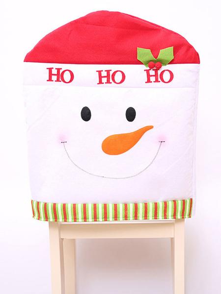 Milanoo Christmas Chair Cover Print Christmas Party Decoration