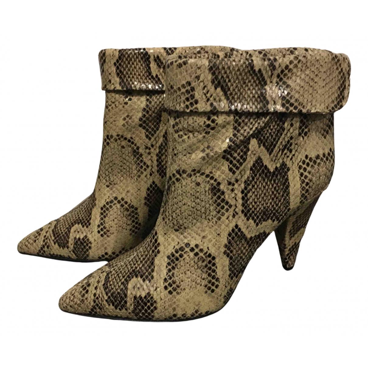 Isabel Marant - Boots   pour femme en cuir - kaki