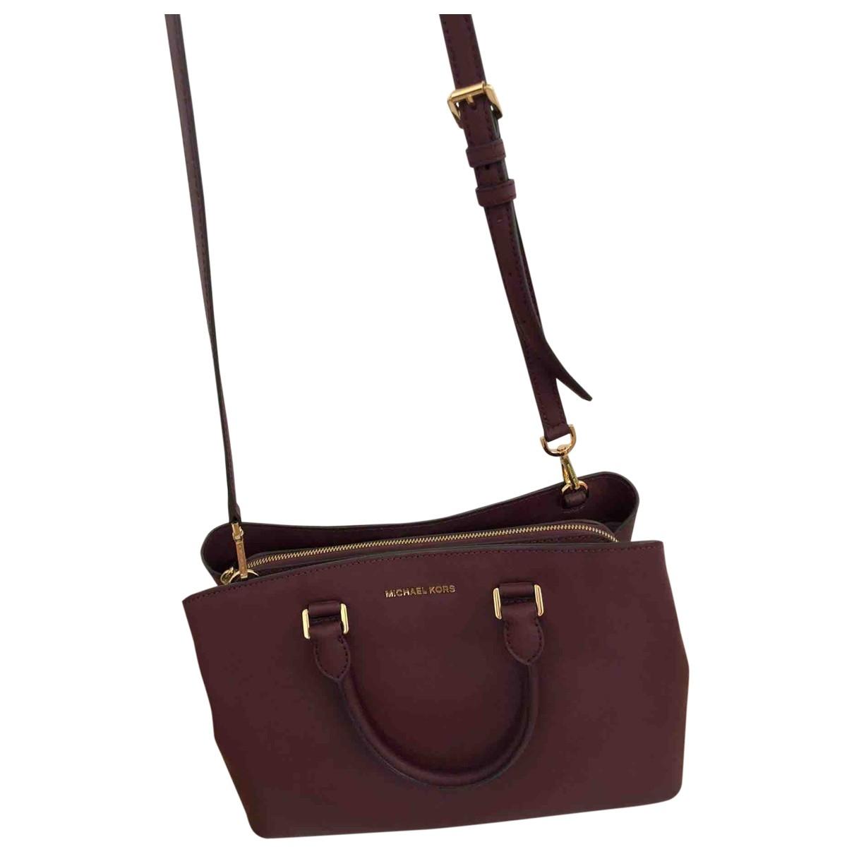 Michael Kors Sutton  Burgundy Leather handbag for Women \N