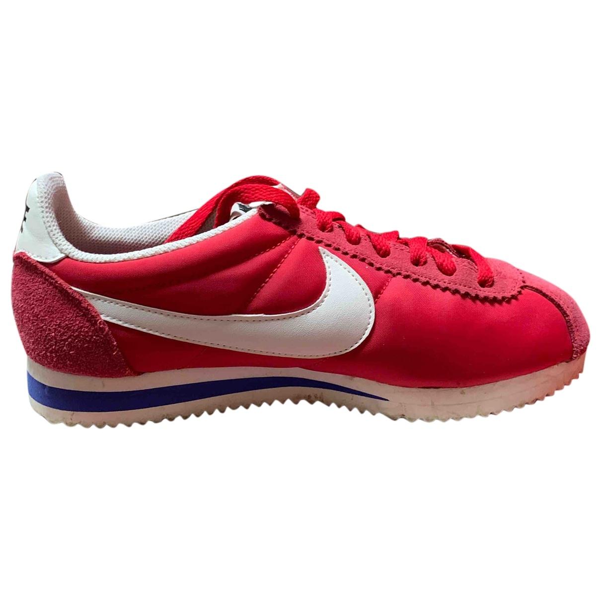 Nike - Baskets Cortez pour femme en suede - rouge