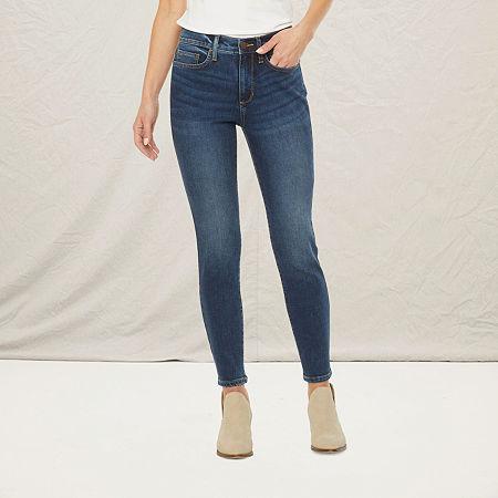 a.n.a Womens High Rise Skinny Ankle Jean, 4 , Blue
