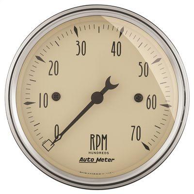 Auto Meter Antique Beige Electric Tachometer - 1898