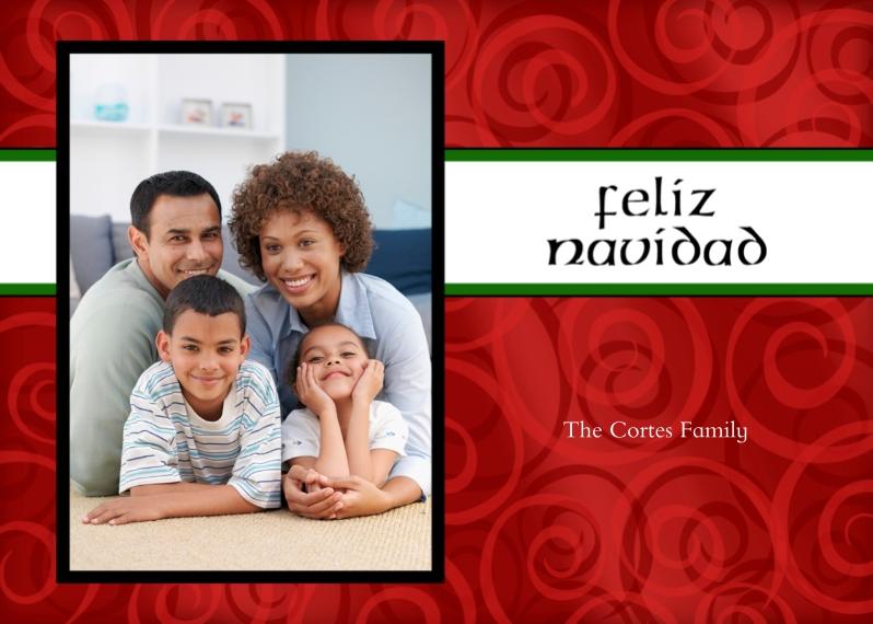 Christmas Photo Cards 5x7 Folded Cards, Standard Cardstock 85lb, Card & Stationery -feliz navidad