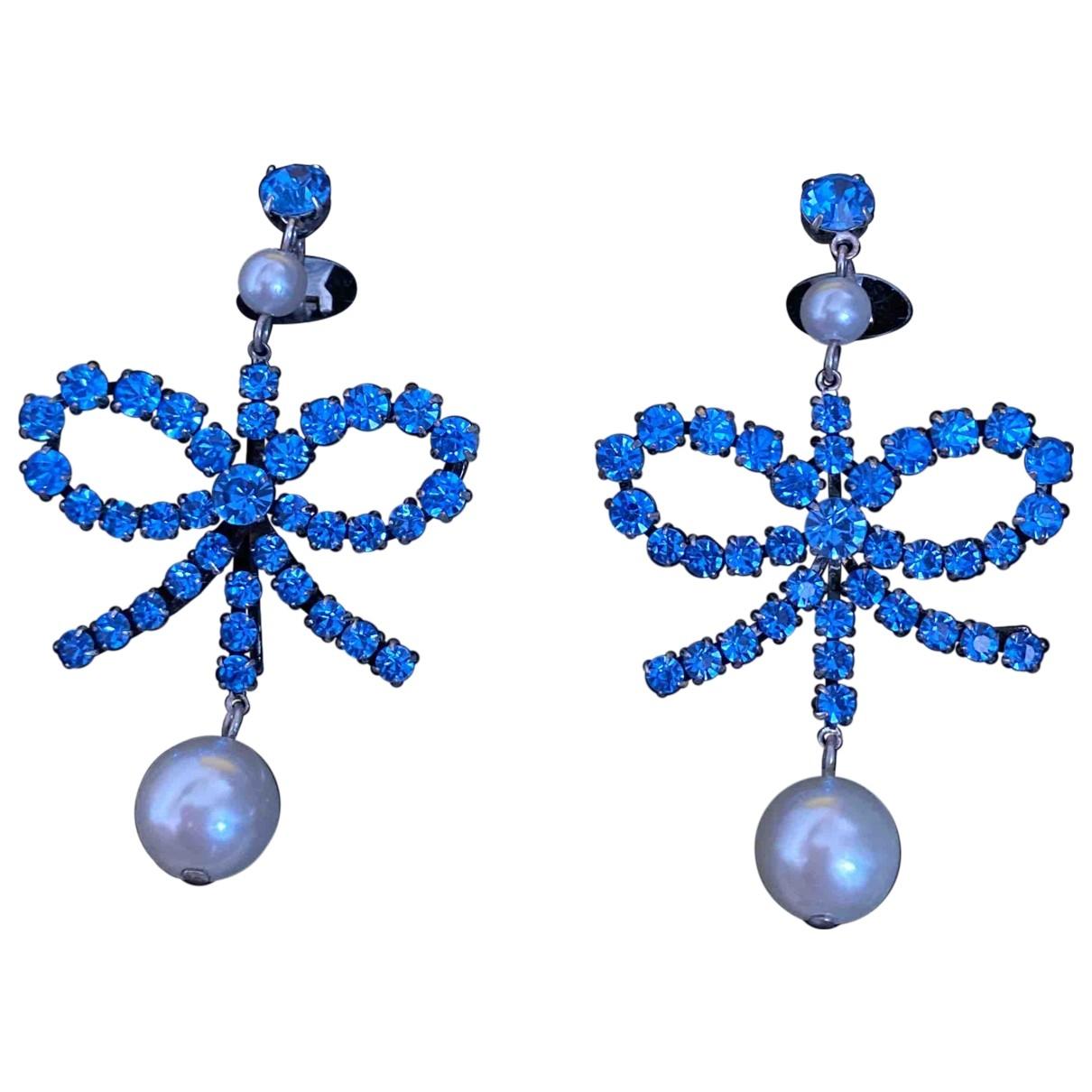 Hm Conscious Exclusive - Boucles doreilles   pour femme en metal - bleu