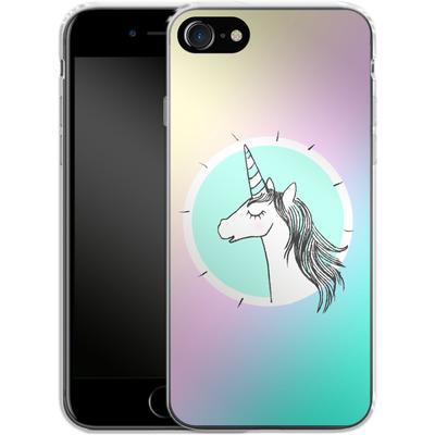 Apple iPhone 7 Silikon Handyhuelle - Happiness Unicorn von caseable Designs