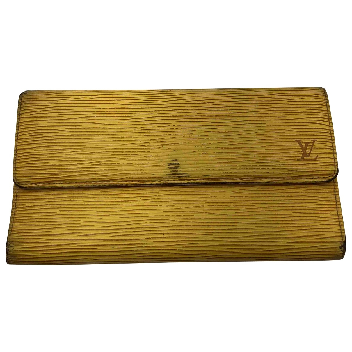 Louis Vuitton \N Yellow Leather wallet for Women \N