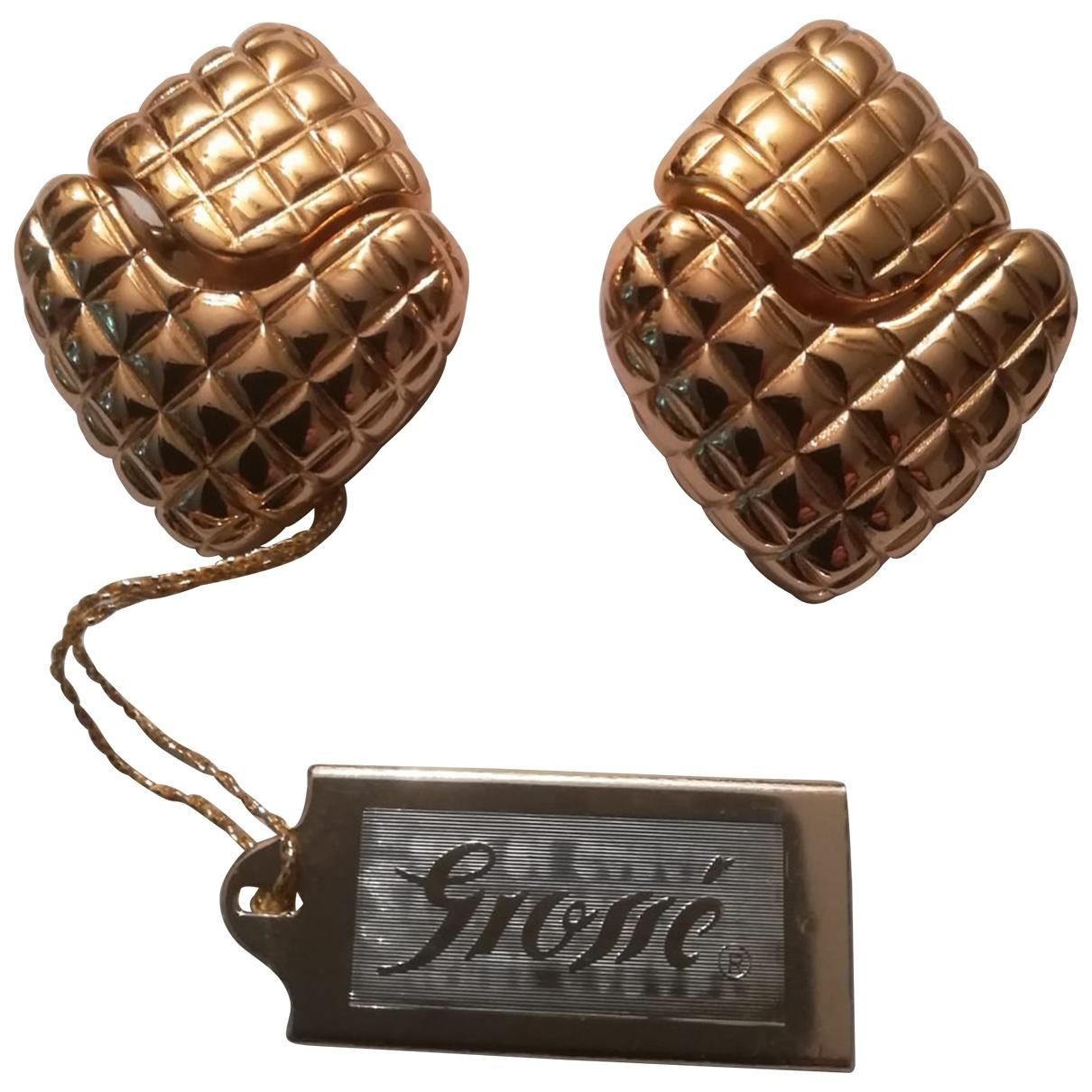Grosse \N Gold Gold plated Earrings for Women \N