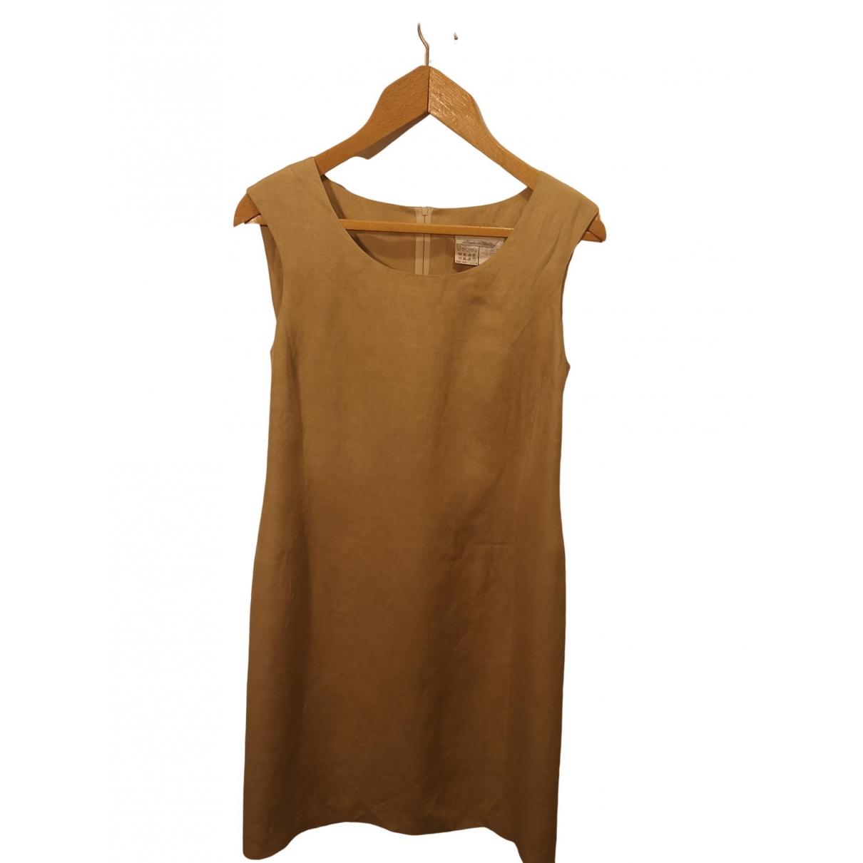Max Mara \N Beige Cotton dress for Women 42 FR
