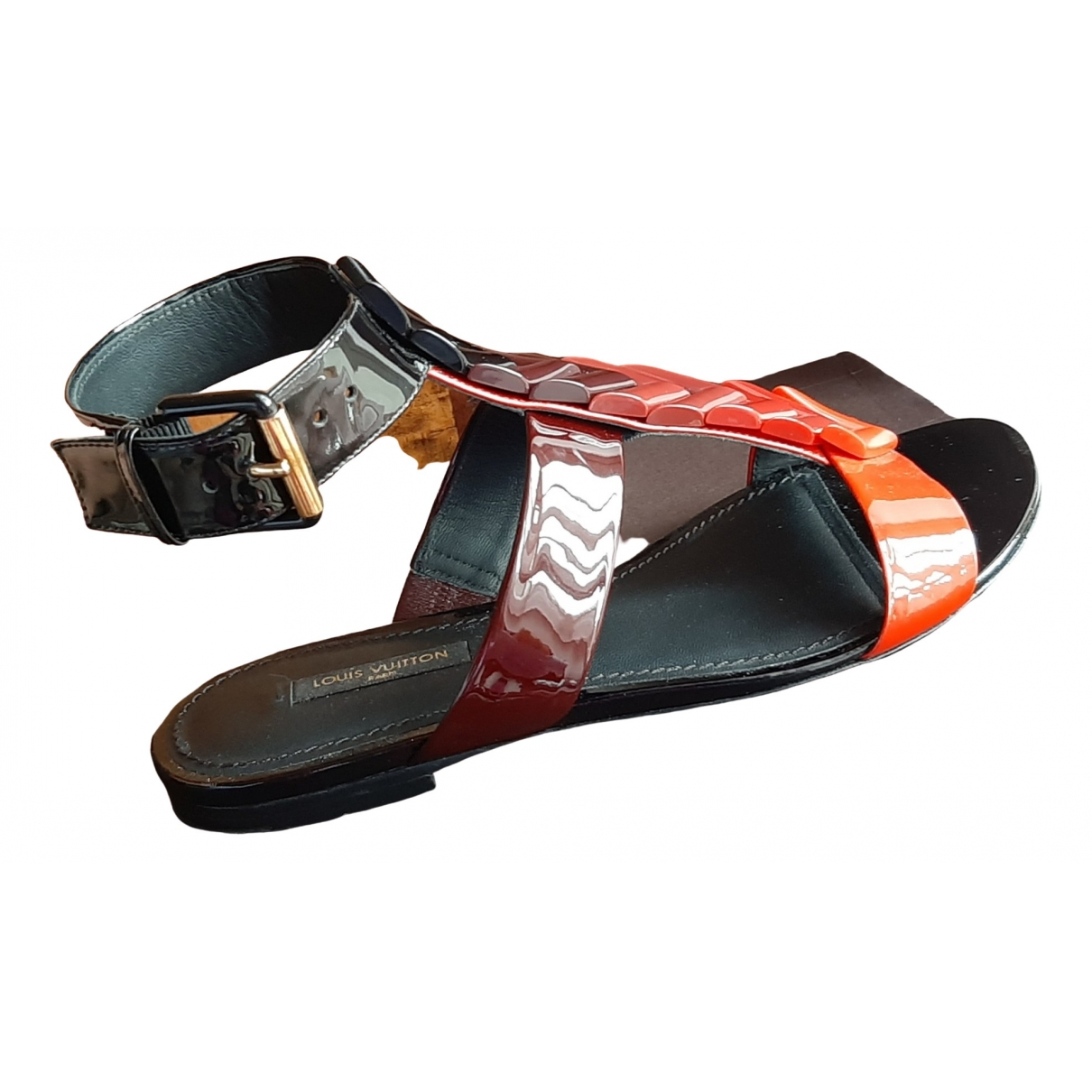 Louis Vuitton \N Sandalen in  Rot Leder