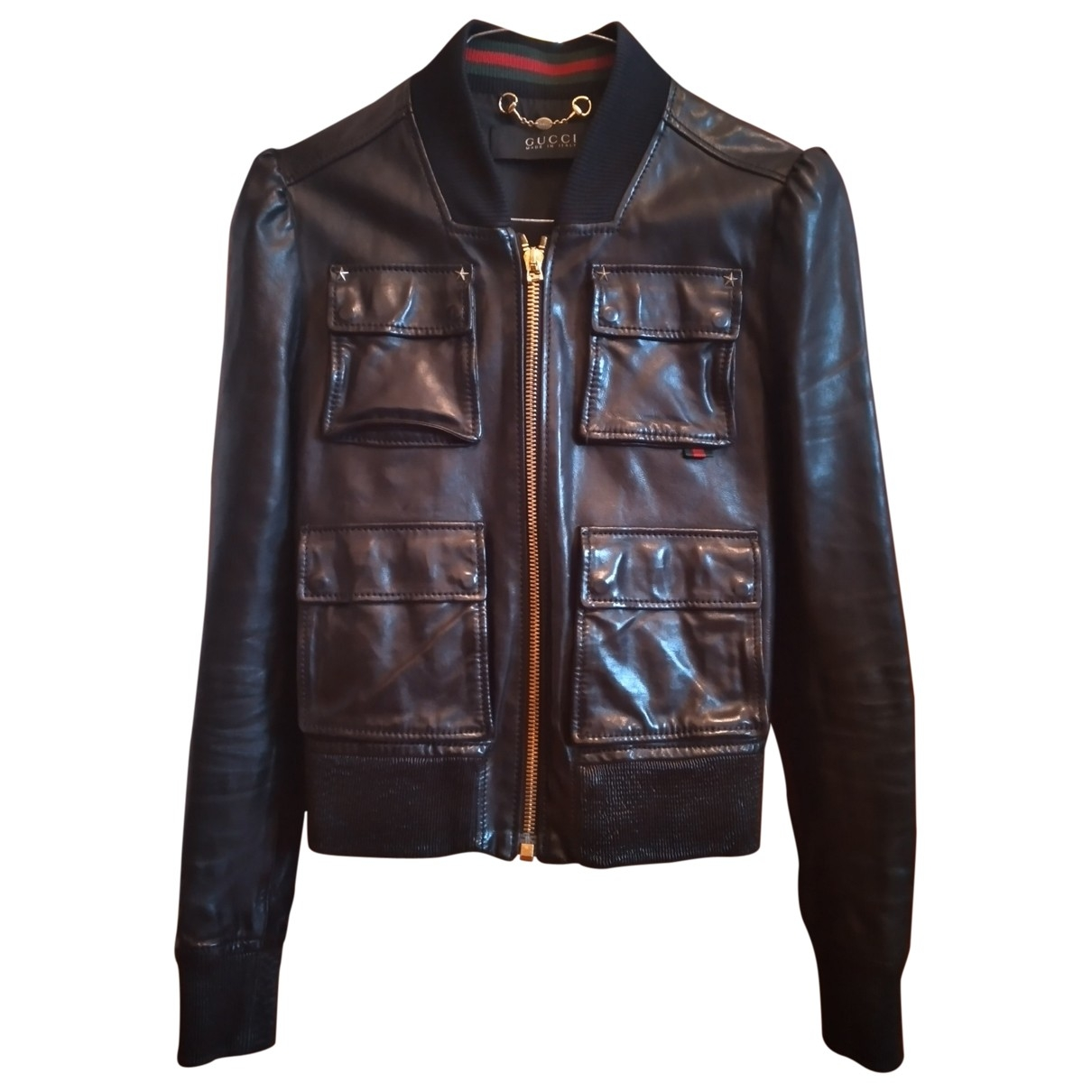 Gucci \N Black Leather Leather jacket for Women 38 IT