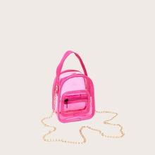 Clear Chain Satchel Bag