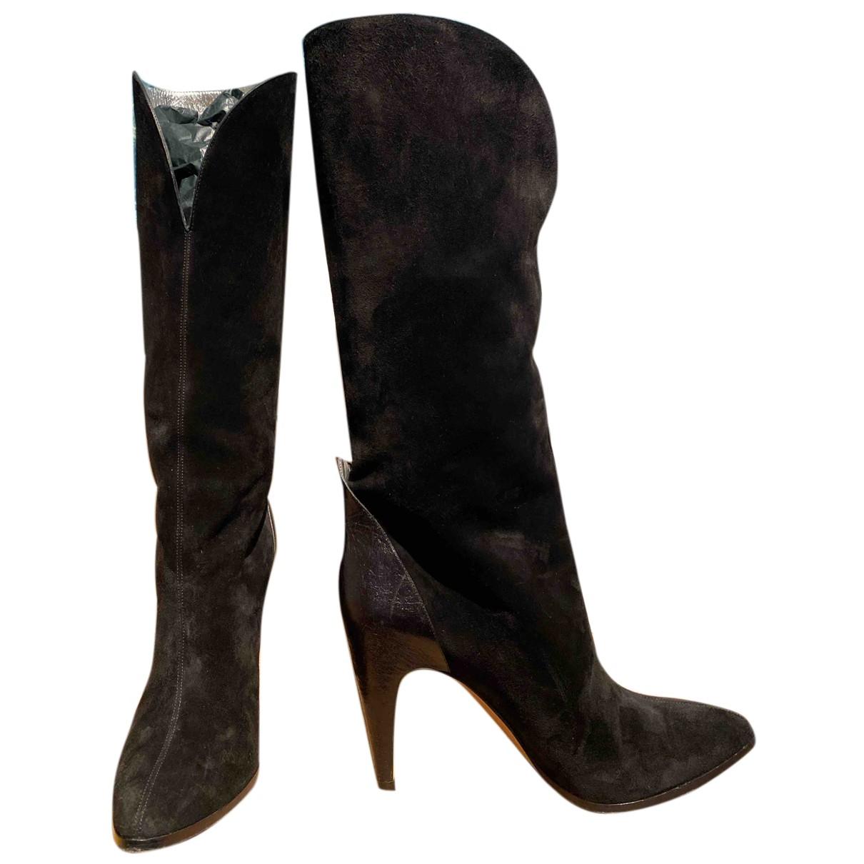 Givenchy - Bottes   pour femme en cuir - noir
