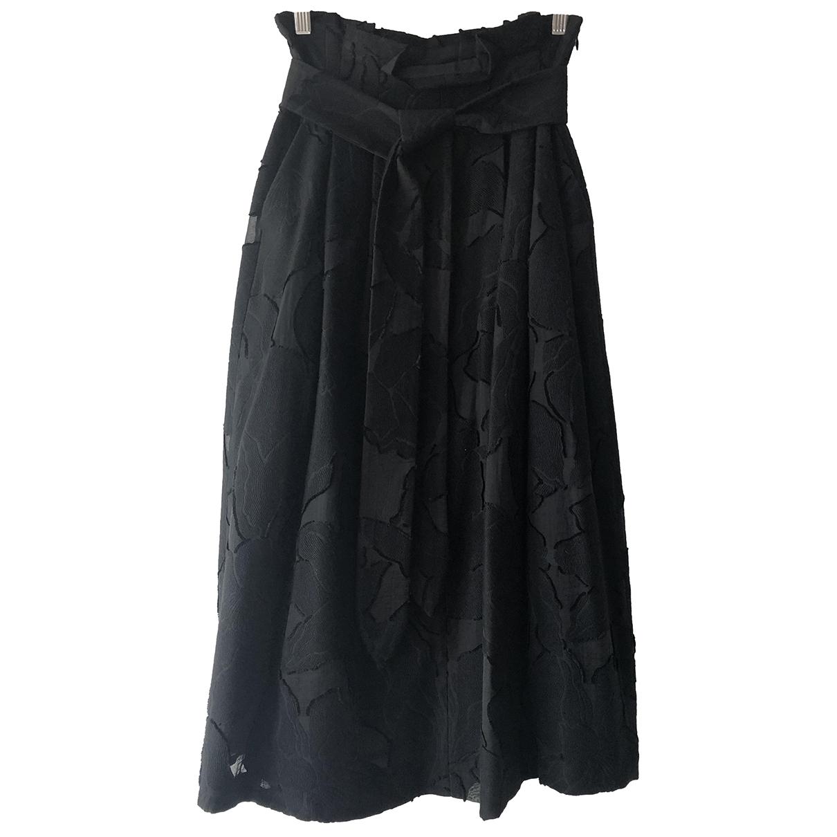 Massimo Dutti - Jupe   pour femme en coton - noir