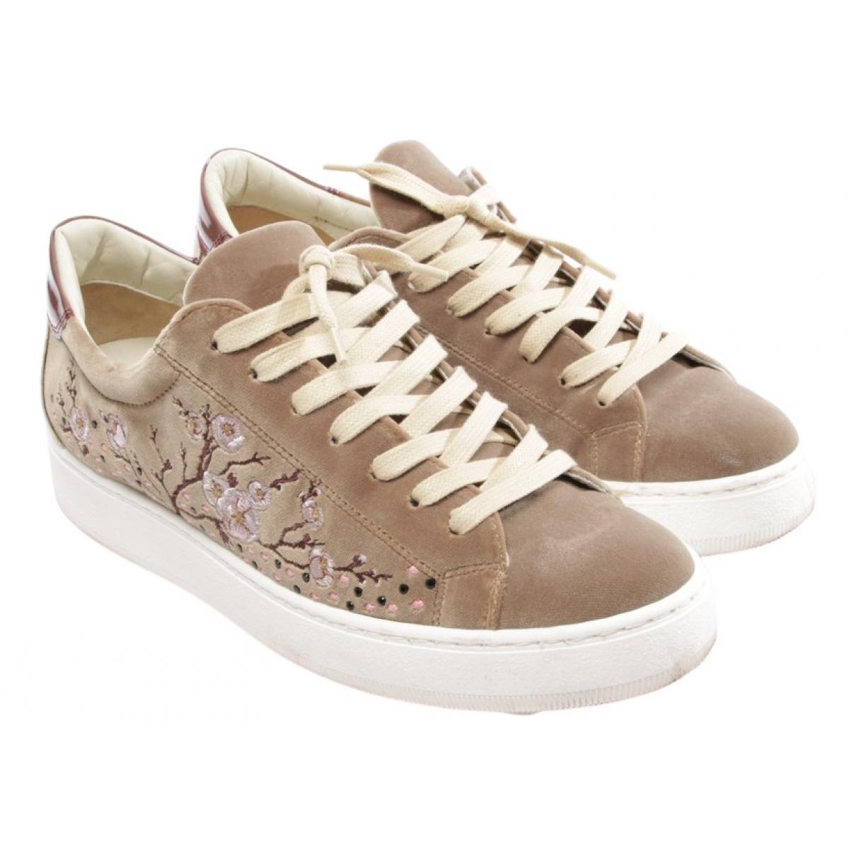 Philippe Model \N Beige Leather Flats for Women 40.5 EU