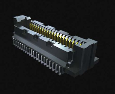Samtec , SS5 0.5mm Pitch 160 Way 2 Row Straight PCB Socket, Surface Mount, Solder Termination (950)
