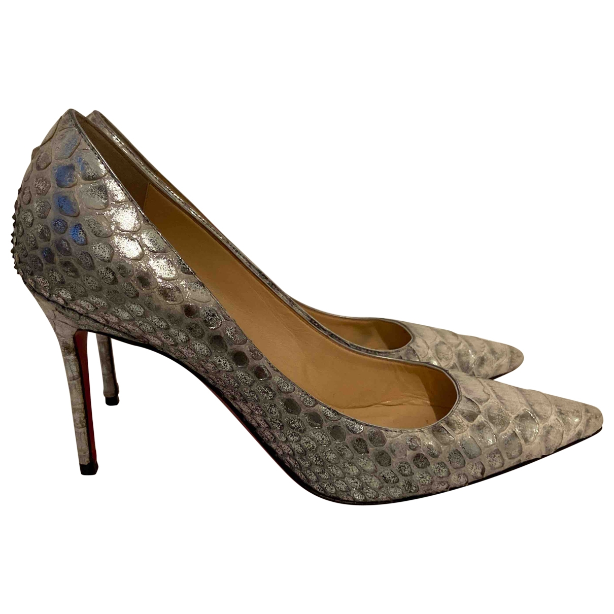 Christian Louboutin \N Pumps in  Silber Python