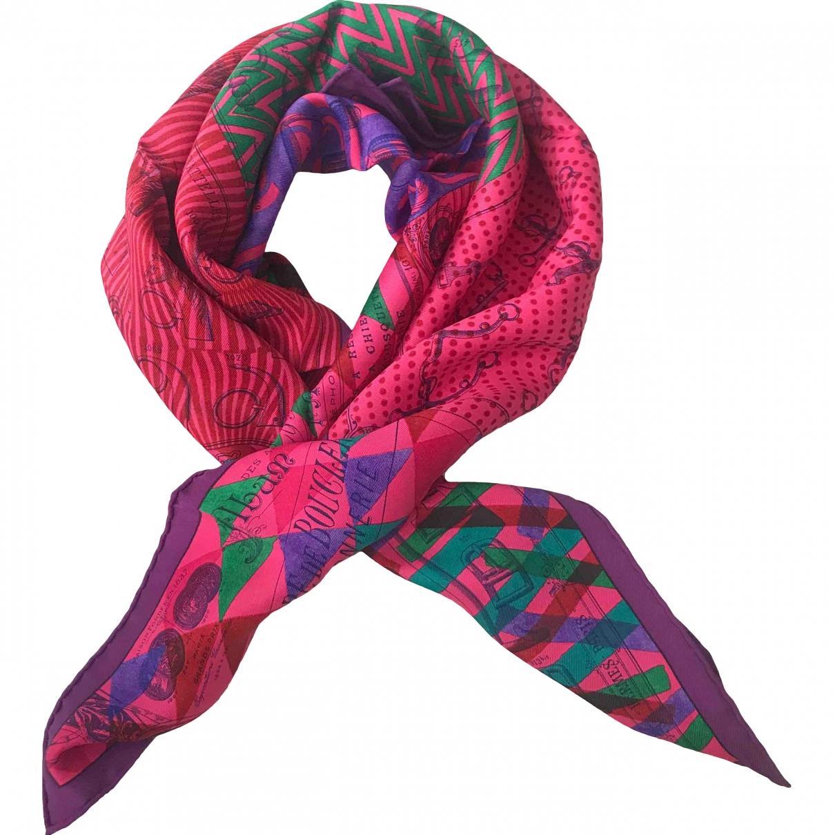 Hermès Carré 70 Pink Silk Silk handkerchief for Women \N