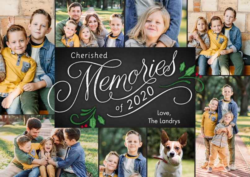 Christmas Photo Cards 5x7 Cards, Standard Cardstock 85lb, Card & Stationery -2020 Cherished Memories Collage by Hallmark
