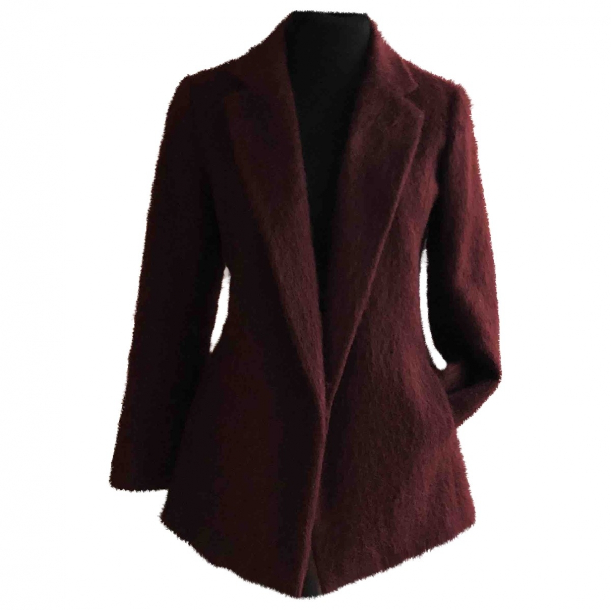 Non Signé / Unsigned \N Burgundy Wool jacket for Women 40 IT