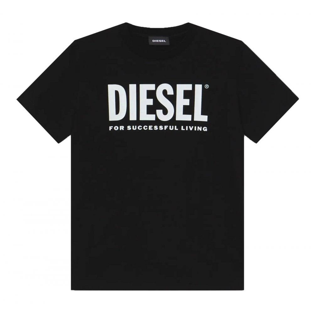 Diesel Cotton T-shirt Colour: BLACK, Size: 12 YEARS