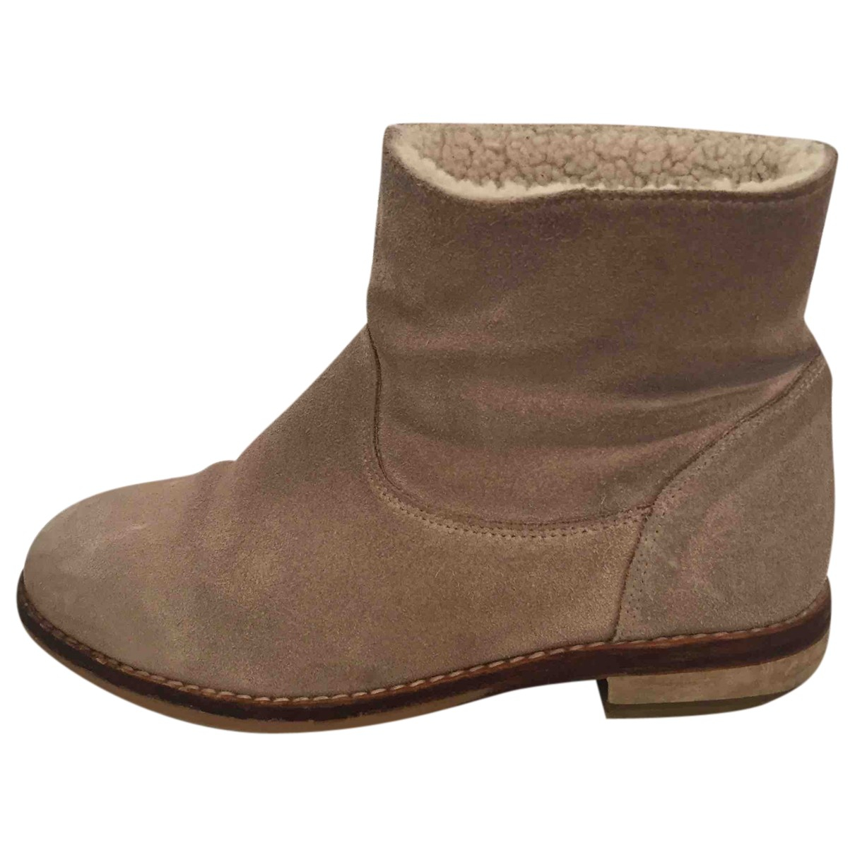 Bonpoint N Beige Suede Boots for Kids 31 FR
