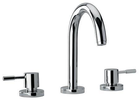 16102-40 Two Lever Handle Roman Tub Faucet With Goose Neck Spout  Designer Flash Black