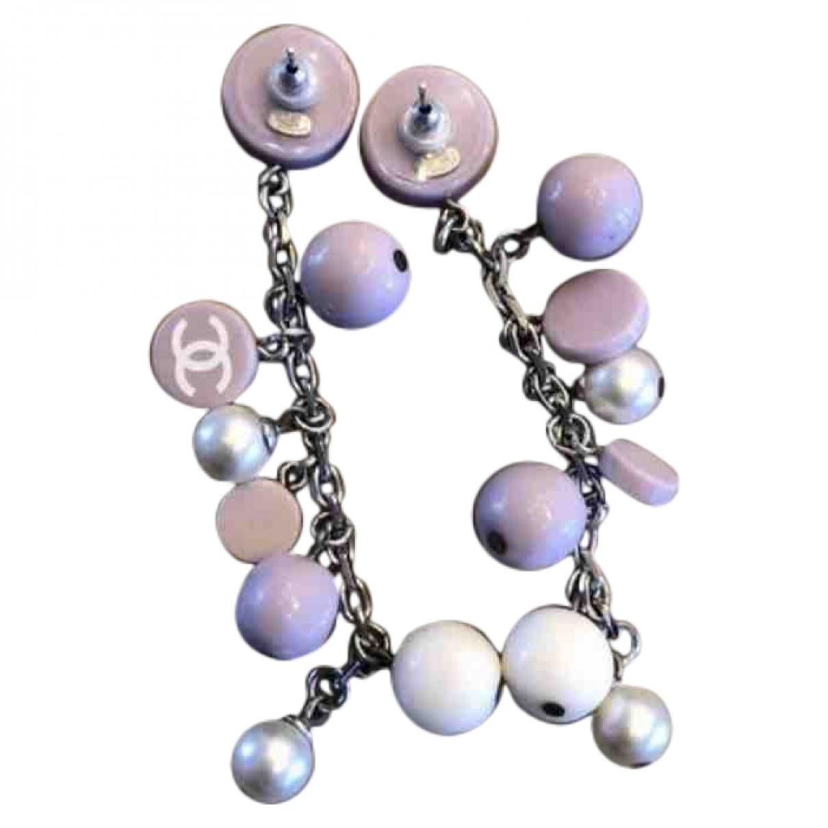 Chanel - Boucles doreilles   pour femme - violet