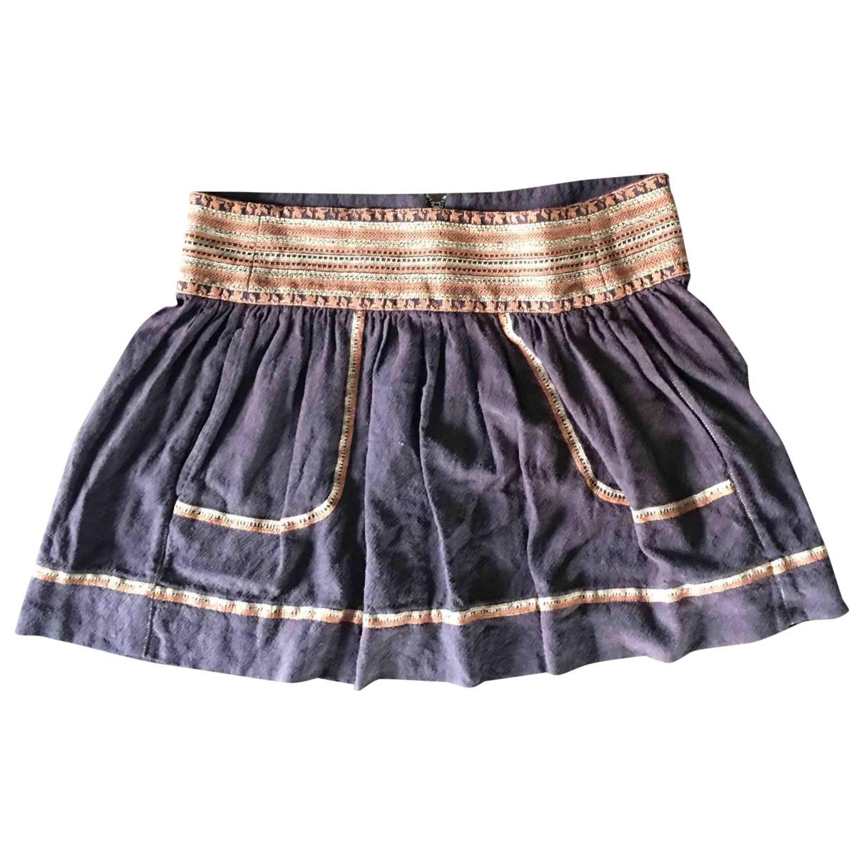 Isabel Marant Etoile \N Brown Cotton skirt for Women 40 FR