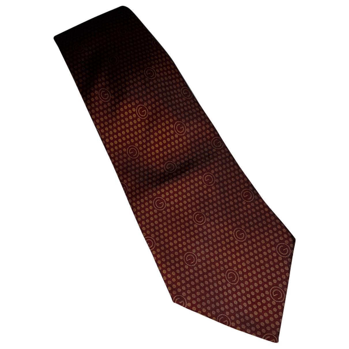 Gucci \N Krawatten in  Orange Seide