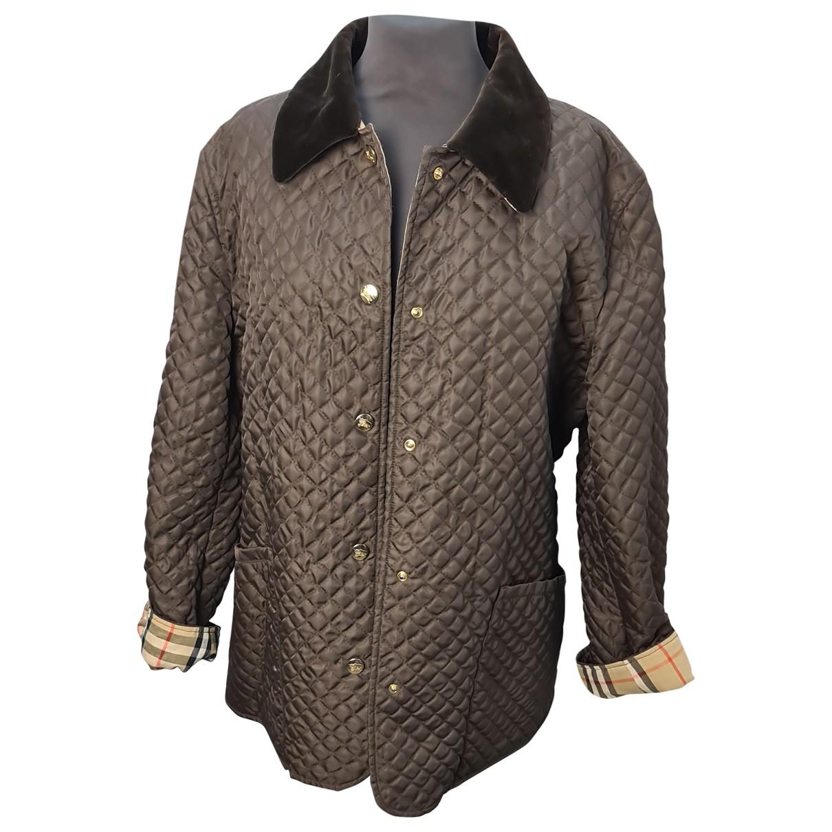 Burberry - Manteau   pour femme en coton - marron
