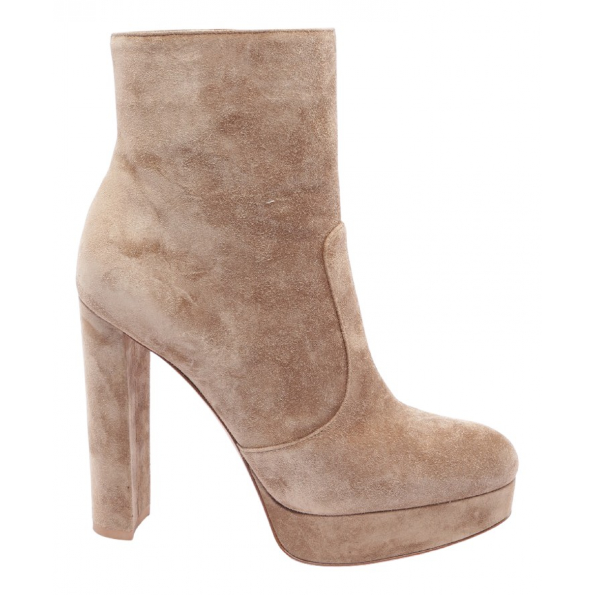 Gianvito Rossi \N Brown Suede Ankle boots for Women 38 EU