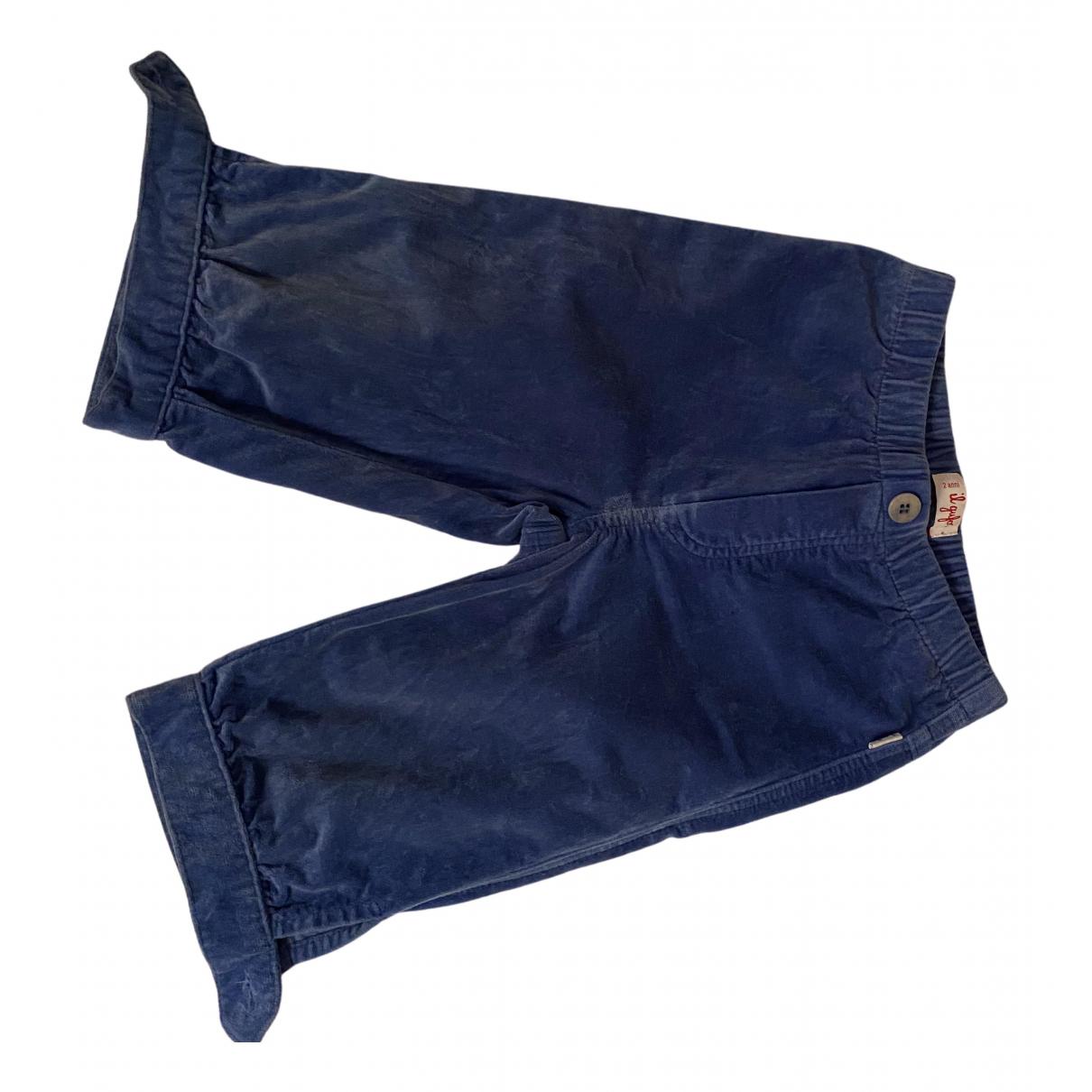 Il Gufo - Short   pour enfant en velours - turquoise