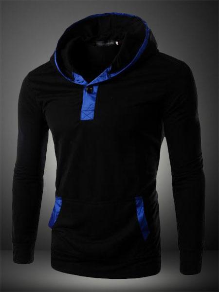 Milanoo Hombres camiseta de manga larga con capucha