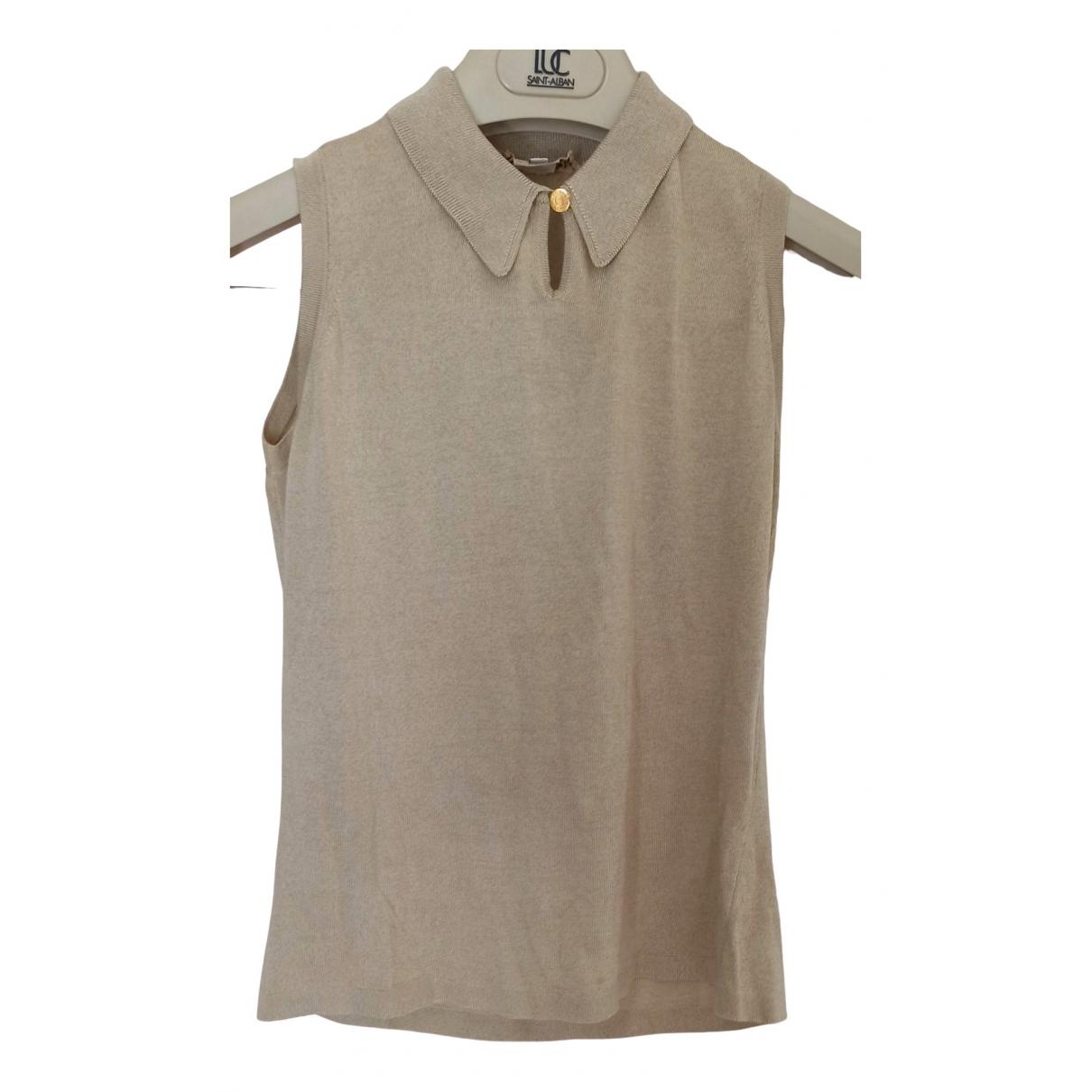 Hermès \N Beige Silk  top for Women S International