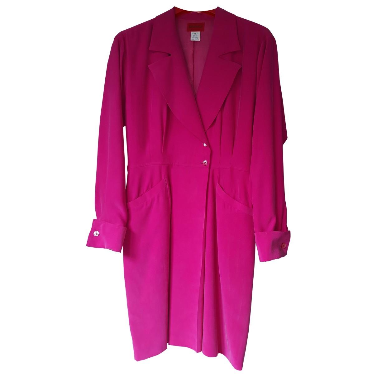 Kenzo \N Pink Silk dress for Women 38 FR
