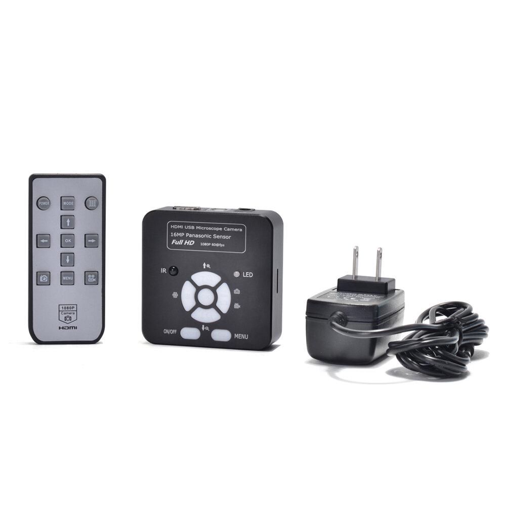 HAYEAR 16MP 1080P HD USB Digital Industry Video Inspection Microscope Camera Set TF Card Video Recorder Phone + 180X C-m