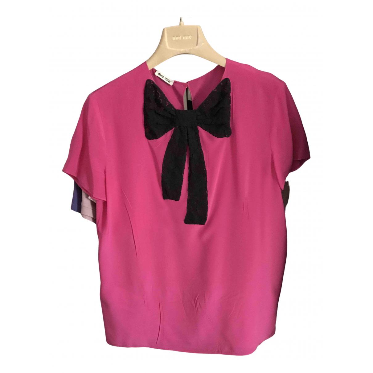 Miu Miu - Top   pour femme en soie - rose