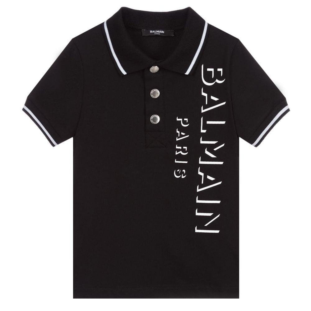 Balmain Paris Polo Colour: BLACK, Size: 6 YEARS
