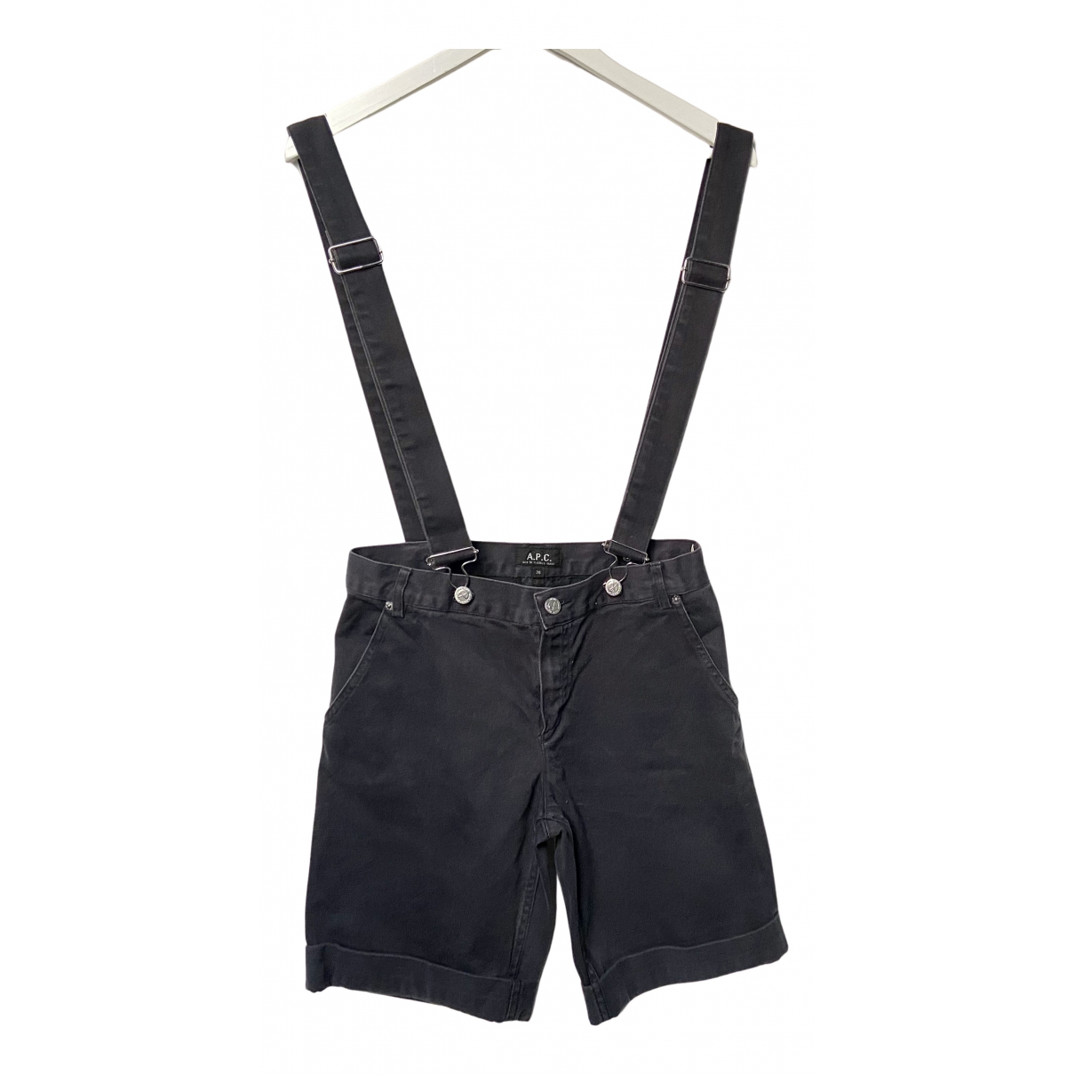 Apc N Navy Cotton Shorts for Women 36 FR